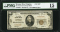 National Bank Notes:West Virginia, Weston, WV - $20 1929 Ty. 1 The National Exchange Bank Ch. # 1607PMG Choice Fine 15.. ...