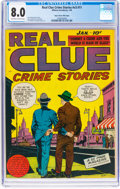 Golden Age (1938-1955):Crime, Real Clue Crime Stories V3#11 Mile High Pedigree (Hillman Fall, 1949) CGC VF 8.0 Off-white to white pages....