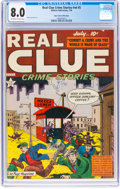 Golden Age (1938-1955):Crime, Real Clue Crime Stories V4#5 Mile High Pedigree (Hillman Fall, 1949) CGC VF 8.0 Off-white to white pages....
