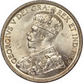 Canada, George V 50 Cents 1936 MS64 PCGS, Royal Canadian M...