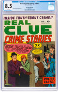 Golden Age (1938-1955):Crime, Real Clue Crime Stories V6#12 Mile High Pedigree (Hillman Fall, 1952) CGC VF+ 8.5 White pages....