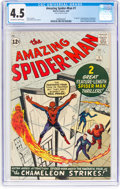 Silver Age (1956-1969):Superhero, The Amazing Spider-Man #1 (Marvel, 1963) CGC VG+ 4.5 Off-white towhite pages....