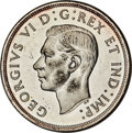 """Canada, Canada: George VI """"Pointed 7 - Double HP"""" Dollar 1947 MS63 PCGS,..."""