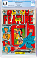 Golden Age (1938-1955):Miscellaneous, Feature Comics #36 Mile High Pedigree (Quality, 1940) CGC FN+ 6.5 White pages....