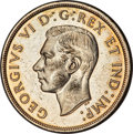 """Canada, George VI """"Pointed 7 - Double HP"""" Dollar 1947 MS63 PCGS,"""