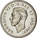 "Canada, George VI ""Blunt 7"" Dollar 1947 MS63 PCGS, Royal C..."