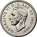 """Canada, George VI """"Blunt 7"""" Dollar 1947 UNC Details (Cleaned) PCGS..."""