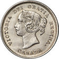"Canada, Canada: Victoria ""Near Pointed 4"" 5 Cents 1884 UNC Details(Cleaned) PCGS,..."