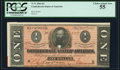 Confederate Notes:1864 Issues, T71 $1 1864 PF-12 Cr. 574 PCGS Choice About New 55.. ...