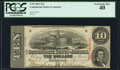 Confederate Notes:1863 Issues, T59 $10 1863 PF-19 Cr. 442 PCGS Extremely Fine 40.. ...