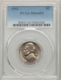 1951 5C MS64 Full Steps PCGS. PCGS Population: (39/70). NGC Census: (0/0)