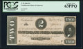 Confederate Notes:1864 Issues, T70 $2 1864 PF-5 Cr. 567 PCGS Choice New 63PPQ.. ...