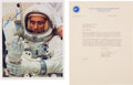 Explorers:Space Exploration, Apollo 7: Wally Schirra 1967-dated Typed Letter Signed with Apollo 7 Content [and] Walt Cunningham Signed White Spacesuit Colo... (Total: 2 Items)