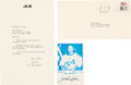 Explorers:Space Exploration, Jack Swigert 1982-dated Typed Letter Signed with Accompanying Signed Photo and Transmittal Envelope. ...