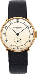 "Timepieces:Wristwatch, Vacheron & Constantin, 18k Rose Gold ""Coin Edge"" Wristwatch, Manual Wind, Circa 1935. ..."