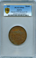 """Austria, Austria: """"360th Anniversary of the Liberation of Waidhofen from the Turks"""" bronzed copper Specimen Medal 1892 SP64 PCGS,..."""
