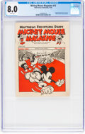 Platinum Age (1897-1937):Miscellaneous, Mickey Mouse Magazine Dairy Giveaway V1#12 (Walt DisneyProductions, 1934) CGC VF 8.0 White pages....