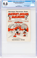Platinum Age (1897-1937):Miscellaneous, Mickey Mouse Magazine Dairy Giveaway #6 (Walt Disney Productions,1934) CGC VF/NM 9.0 White pages....