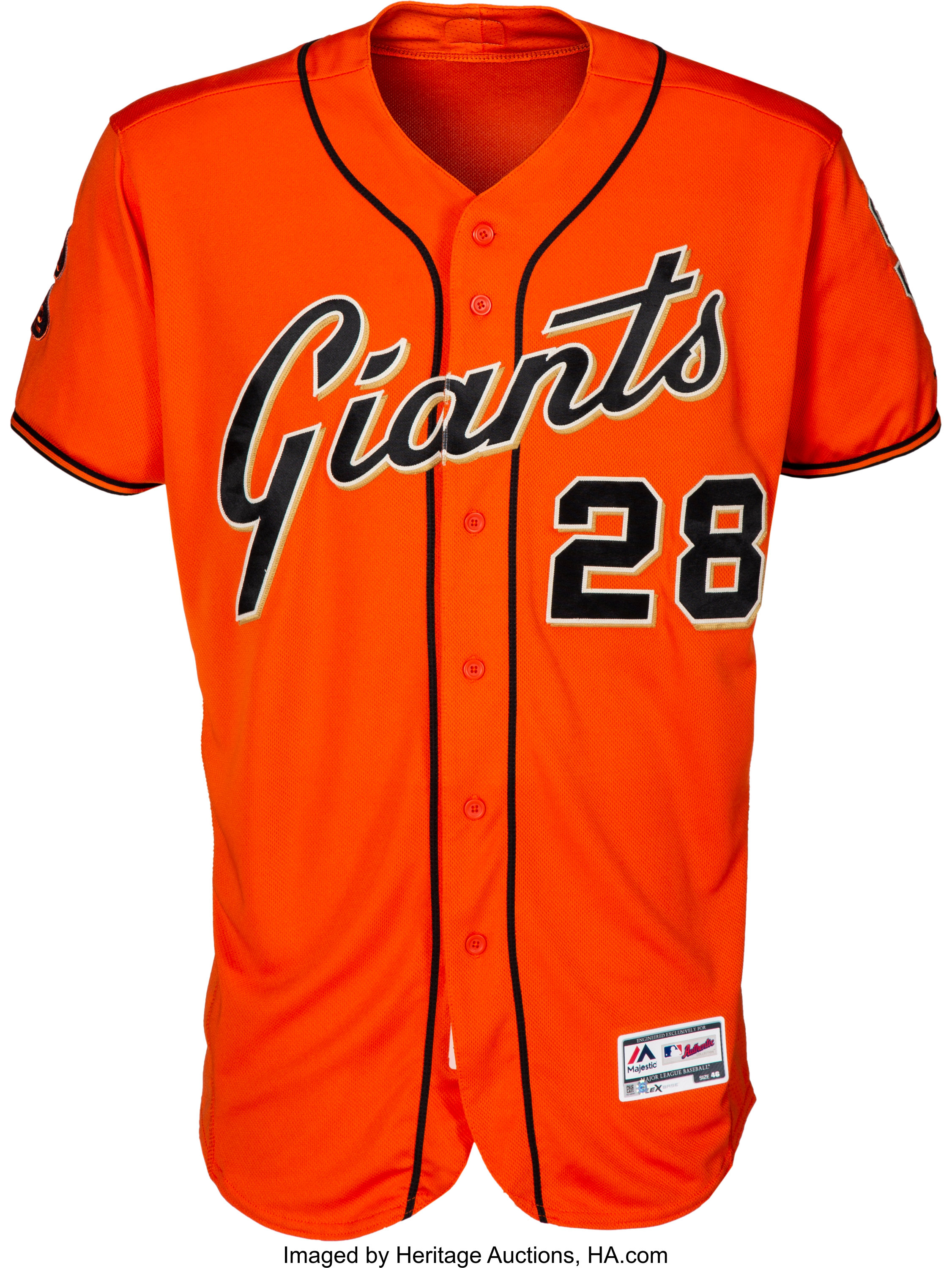 best loved 8ce59 f377f 2016 Buster Posey Game Worn San Francisco Giants Jersey ...