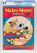 Platinum Age (1897-1937):Miscellaneous, Mickey Mouse Magazine #11 (Walt Disney Productions, 1936) CGC FN6.0 Off-white pages....