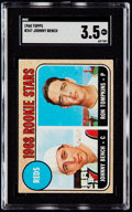 Baseball Cards:Singles (1960-1969), 1968 Topps Johnny Bench - Reds Rookies #247 SGC VG+ 3.5....