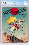 Golden Age (1938-1955):Miscellaneous, Red Circle Comics #4 original (Rural Home, 1945) CGC FN/VF 7.0 Cream to off-white pages....