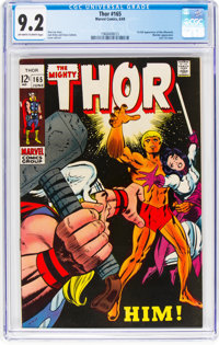 Thor #165 (Marvel, 1969) CGC NM- 9.2 Off-white to white pages