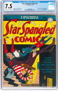 Golden Age (1938-1955):Superhero, Star Spangled Comics #4 (DC, 1942) CGC VF- 7.5 Cream to off-white pages....