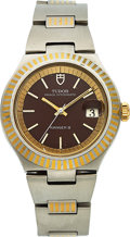 Timepieces:Wristwatch, Tudor, Rare Prince Oysterdate Ranger II, Automatic, Stainless Steeland Yellow Gold, Ref. 9111/01S Circa 1977. ...