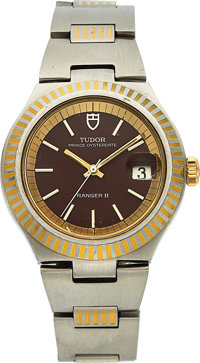 Tudor, Rare Prince Oysterdate Ranger II, Automatic, Stainless Steel and Yellow Gold, Ref. 9111/01S Circa 1977