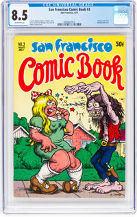 San Francisco Comic Book #3 (Print Mint, 1970) CGC VF+ 8.5 Off-white pages