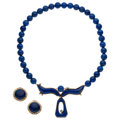 Estate Jewelry:Suites, Diamond, Lapis Lazuli, Gold Jewelry Suite . ... (Total: 2 Items)