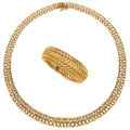 Estate Jewelry:Lots, Gold Jewelry . ... (Total: 2 Items)