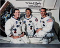 Explorers:Space Exploration, Apollo 7: White Spacesuit Crew Photo Signed by Walt Cunningham and Wally Schirra (Photographic Provenance). ...
