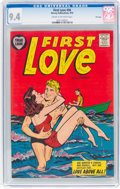 Golden Age (1938-1955):Romance, First Love Illustrated #56 File Copy (Harvey, 1955) CGC NM 9.4 Cream to off-white pages....