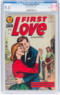 Silver Age (1956-1969):Romance, First Love Illustrated #84 File Copy (Harvey, 1958) CGC VF/NM 9.0Cream to off-white pages....