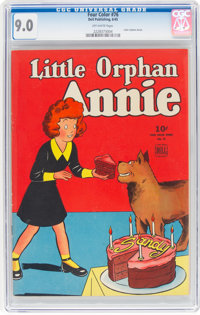 Four Color #76 Little Orphan Annie (Dell, 1945) CGC VF/NM 9.0 Off-white pages