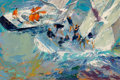 Fine Art - Painting, American, LeRoy Neiman (American, 1921-2012). America's Cup, Newport,1969. Oil on board. 48 x 72 inches (121.9 x 182.9 cm). Signe...