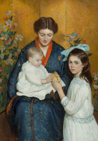 Lilla Cabot Perry (American, 1848-1933) An Easter Morning, 1915 Oil on canvas 46 x 32-3/8 inches
