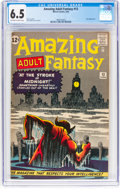 Silver Age (1956-1969):Science Fiction, Amazing Adult Fantasy #13 (Marvel, 1962) CGC FN+ 6.5 Off-white towhite pages....
