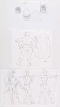 Original Comic Art:Miscellaneous, Ryan Sook - Darkseid and Female Furies Preliminary Artwork Group of 3 (DC, 2008).... (Total: 3 Original Art)