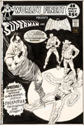 Original Comic Art:Covers, Curt Swan and Murphy Anderson World's Finest #207 Cover Batman and Superman Original Art (DC, 1971)....
