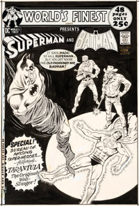 Curt Swan and Murphy Anderson World's Finest #207 Cover Batman and Superman Original Art (DC, 1971)