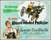 """The Absent-Minded Professor & Other Lot (Buena Vista, R-1974). Rolled, Very Fine. Half Sheets (2) (22"""" X 28..."""