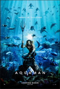 """Movie Posters:Action, Aquaman (Warner Brothers, 2018). Rolled, Very Fine+. One Sheet (27"""" X 40"""") DS Advance. Action.. ..."""