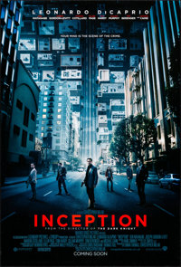 "Inception (Warner Brothers, 2010). Rolled, Very Fine/Near Mint. One Sheet (27"" X 40"") DS Advance. Science Fict..."