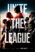 """Movie Posters:Action, Justice League (Warner Brothers, 2017). Rolled, Very Fine/Near Mint. One Sheet (27"""" X 40"""") DS, Advance. Action.. ..."""