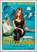 """Movie Posters:Foreign, Yesterday, Today and Tomorrow (Interfilm, 1963). Folded, Very Fine-. Italian 2 - Fogli (39"""" X 55"""") Luca Crovato Artwork. For..."""