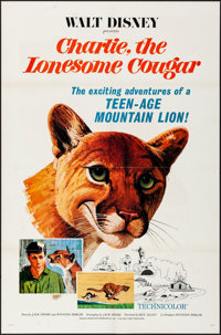 """Charlie, the Lonesome Cougar (Buena Vista, 1967). Folded, Very Fine-. One Sheet (27"""" X 41"""") Paul Wenzel Artwor..."""