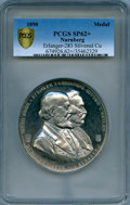 "German States:Nurnberg, German States: Nurnberg silver Specimen ""New Town Hall Building""Medal 1890 SP62+ PCGS,..."